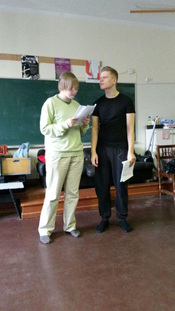 Petri ja Jussi harjoittelee